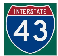 interstate highway 43