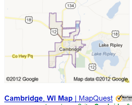 cambridge map  wisconsin