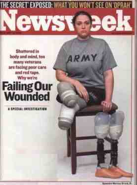 newsweek soldier  right triangle legs