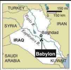 babylon iraq map
